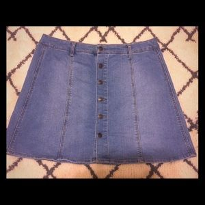 Mossimo Button Up A-Line Denim Skirt
